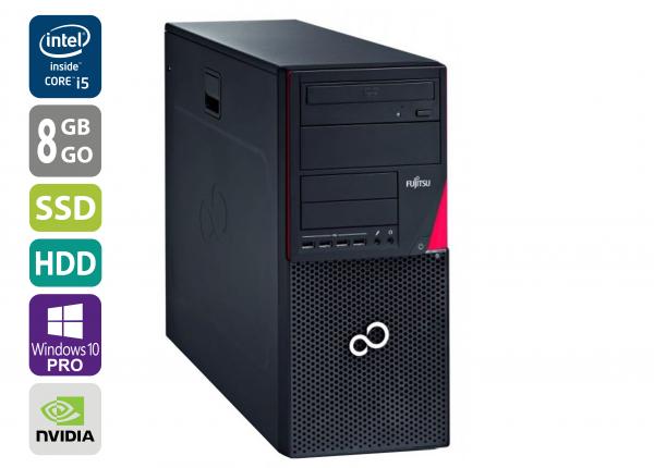 Gaming PC - Fujitsu Esprimo P720 MT - Core i5-4570 @ 3,2 GHz - 8GB RAM - 1000GB HDD - 250GB SSD - DVD-RW - Nvidia GTX 1050 - Win10Pro