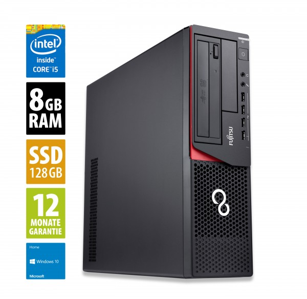 Fujitsu Esprimo E920 DT - Core i5-4590 @ 3,3 GHz - 8GB RAM - 128GB SSD - Win10Home