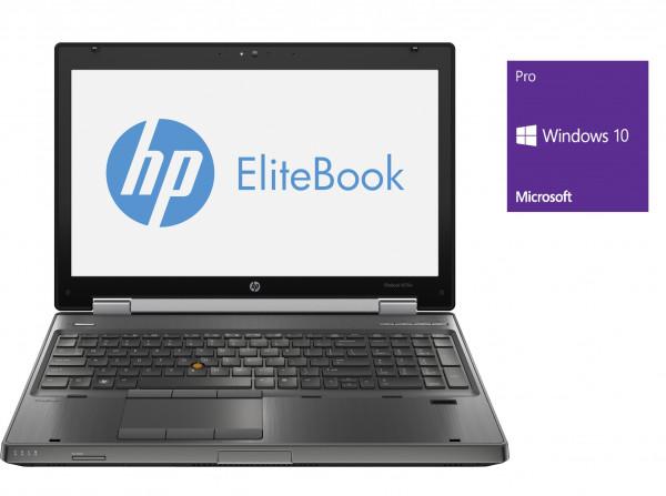 HP Elitebook 8570w - 15,6 Zoll - Core i7-3740QM @ 2,7 GHz - 16GB RAM - 250GB SSD - FHD (1920x1080) - Quadro K2000M - Win10Pro