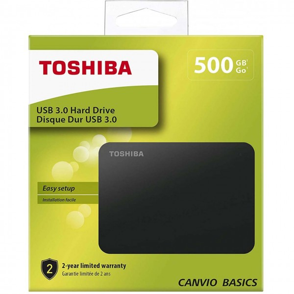 Toshiba Canvio Basics - HDD - extern - 2,5 Zoll - USB 3.0 - 500GB