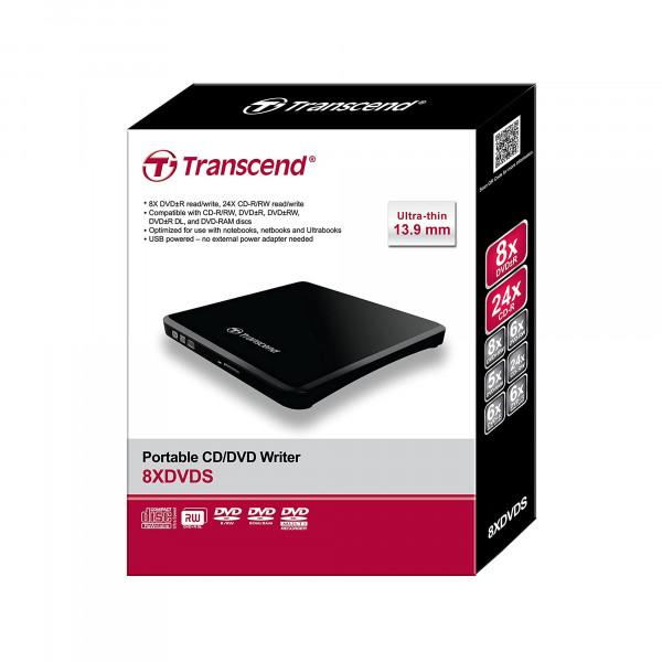 Transcend TS8XDVDS-K externer DVD Brenner - schwarz