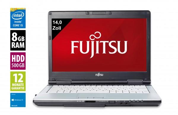 Fujitsu LifeBook S751 - 14,0 Zoll - Core i5-2520M @ 2,5 GHz - 8GB RAM - 500GB HDD - DVD-RW - WXGA (1366x768) - Win10Home