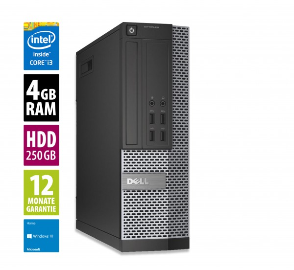 Dell OptiPlex 7010 SFF - Core i3-3240 @ 3,4 GHz - 4GB RAM - 250GB HDD - Win10Home