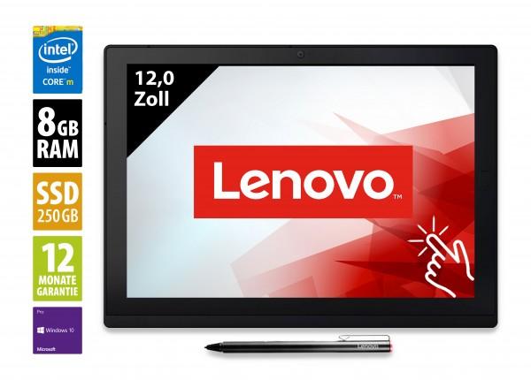 Lenovo ThinkPad X1 Tablet Gen 2 - 12,0 Zoll - Core i5-7Y57 @ 1,2 GHz - 8GB RAM - 250GB SSD - FHD+ (2160x1440) - Touch - Webcam - Win10Pro