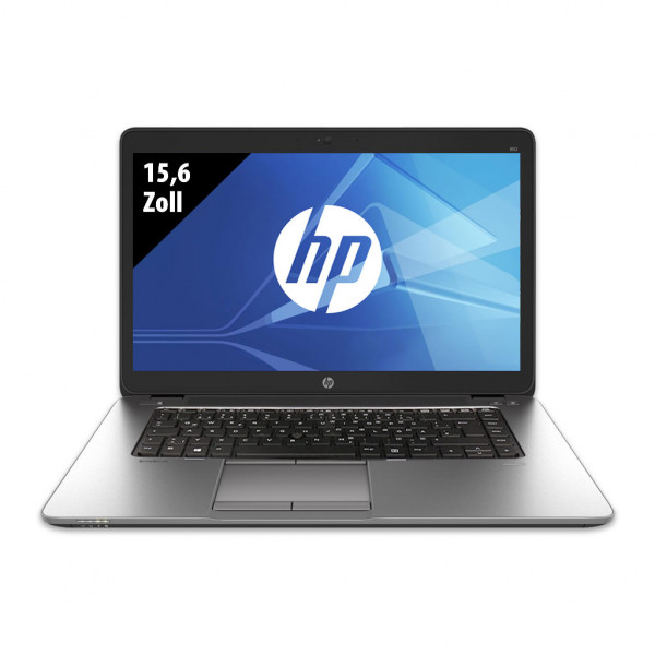 HP EliteBook 850 G2 - 15,6 Zoll - Core i5-5300U @ 2,3 GHz - 8GB RAM - 250GB SSD - FHD (1920x1080) - Webcam - Win10Pro