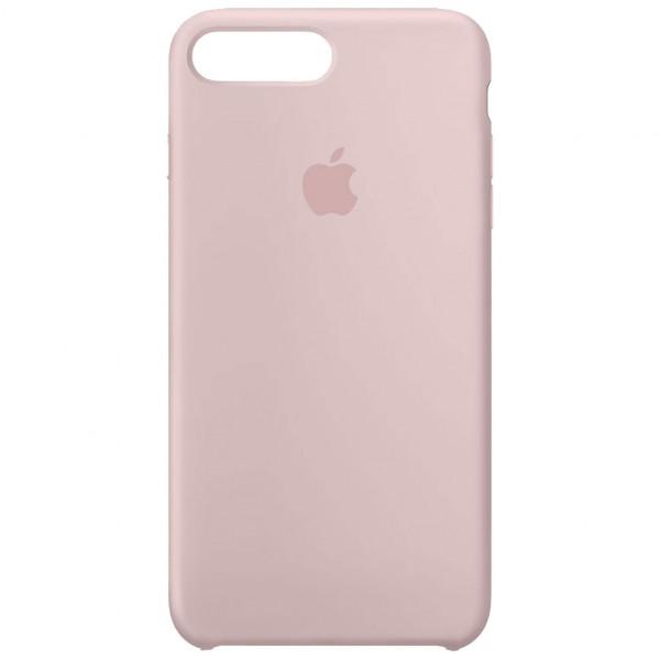 Apple Silikon Case - Handyhülle (iPhone 7 Plus/8 Plus) - Sandrosa