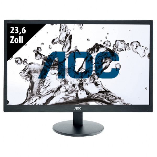 AOC E2470SWDA - 23,6 Zoll - FHD (1920x1080) - 5ms - schwarz