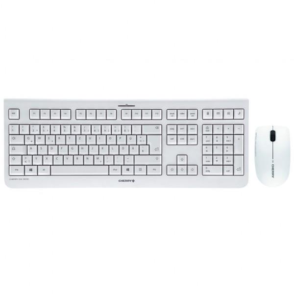 Cherry DW 3000 - Tastatur und Maus Set - kabellos - Grau