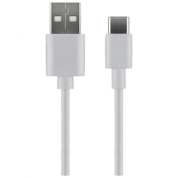 MicroConnect USB-A auf USB-C Kabel - 1m - Weiß