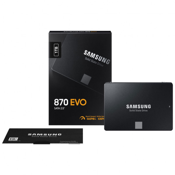Samsung 870 EVO - 1 TB - SSD - 2,5 Zoll - SATA III - intern