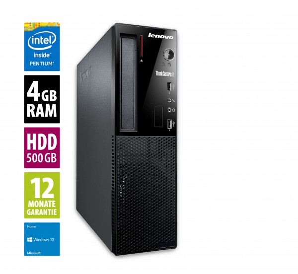 Lenovo Thinkcentre Edge 72 SFF - Pentium G645 @ 2,9 GHz - 4GB RAM - 500GB HDD - DVD-RW - Win10Home