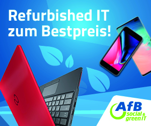 AfB social green IT – Werbebanner – Refurbished IT zum Bestpreis