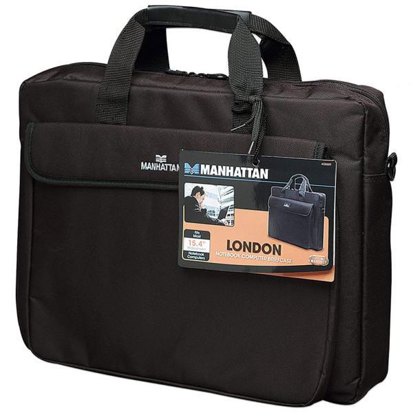 """Manhattan London Notebooktasche - 15,6"""" - Schwarz"""