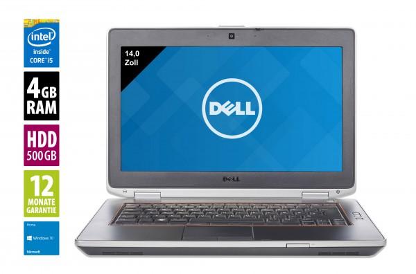 Dell Latitude E6420 - 14,0 Zoll - Core i5-2520M @ 2,5 GHz - 4GB RAM - 500GB HDD - DVD-RW - WXGA (1366x768) - Webcam - Win10Home