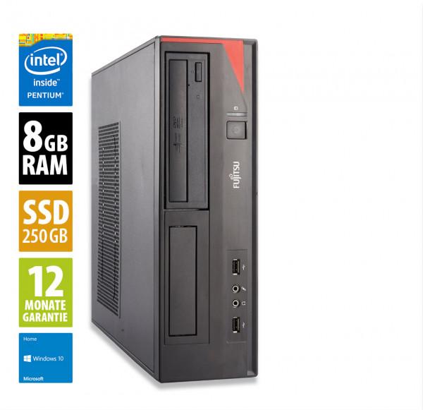 Fujitsu Esprimo E420 DT - Pentium G3420 @ 3,2 GHz - 8GB RAM - 250GB SSD - DVD-ROM - Win10Home
