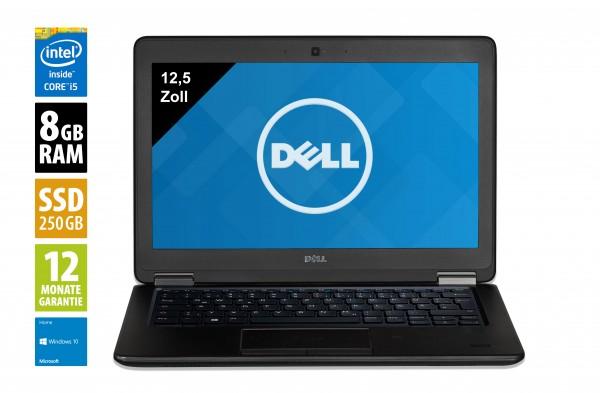 Dell Latitude E7250 - 12,5 Zoll - Core i7-5600U @ 2,6 GHz - 8GB RAM - 250GB SSD - FHD (1920x1080) - Touch - Webcam - Win10Home