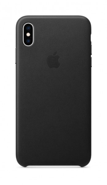 Apple Leder Case (iPhone XS Max) - Schwarz