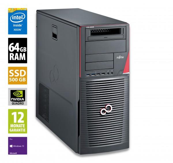 Fujitsu Celsius M740 MT - Xeon E5-1630-v4 @ 3,7 GHz - 64GB RAM - 500GB SSD - Nvidia Quadro M4000 - Win10Pro