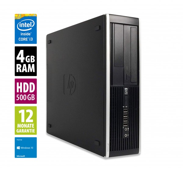 HP Elite 8200 SFF - Core i3-2100 @ 3,1 GHz - 4GB RAM - 500GB HDD - DVD-ROM - Win10Home
