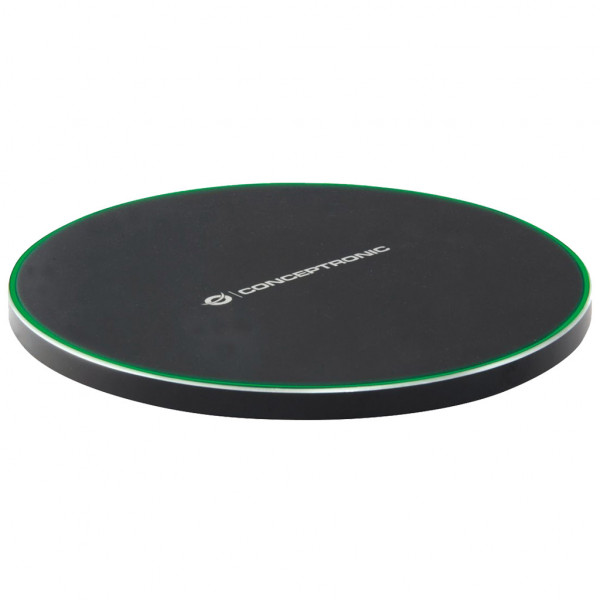 Conceptronic GORGON Wireless Charger - induktive Ladestation - Schwarz