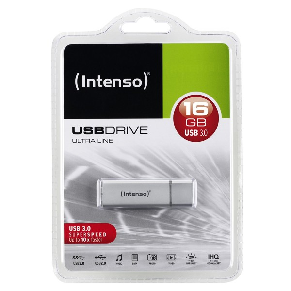Intenso USB Drive Ultra Line 16GB USB 3.0 Stick silber