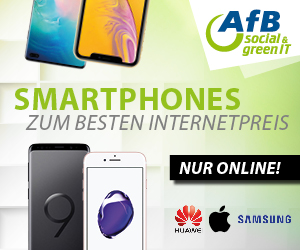 AfB social green IT - Werbebanner - Smartphone Aktion