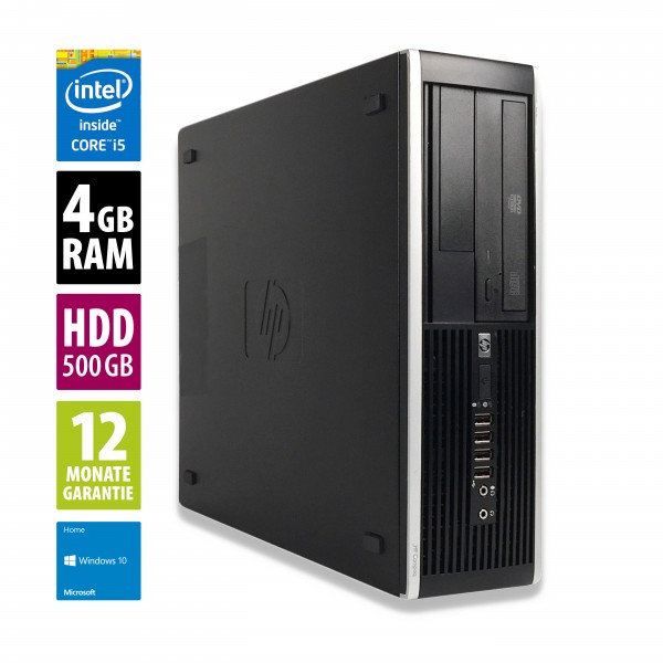 HP Elite 8200 SFF - Core i5-2500 @ 3,3 GHz - 4GB RAM - 500GB HDD - DVD-RW - Win10Home