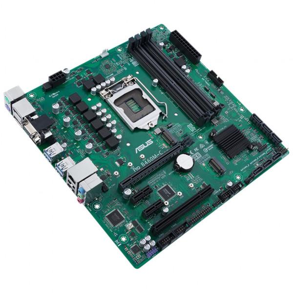 ASUS Pro B460M-C/CSM - Mainboard - micro ATX - LGA1200-Sockel - B460 - USB 3,2 Gen 1 - Gigabit LAN - Onboard-Grafik (CPU erforderlich)