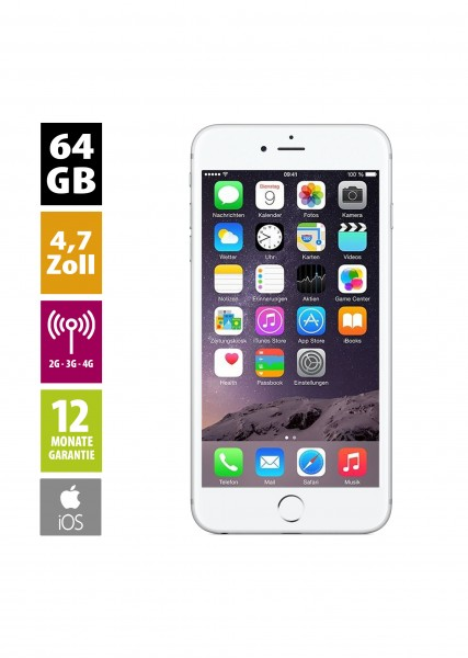 Apple iPhone 6 (64GB) - Silver