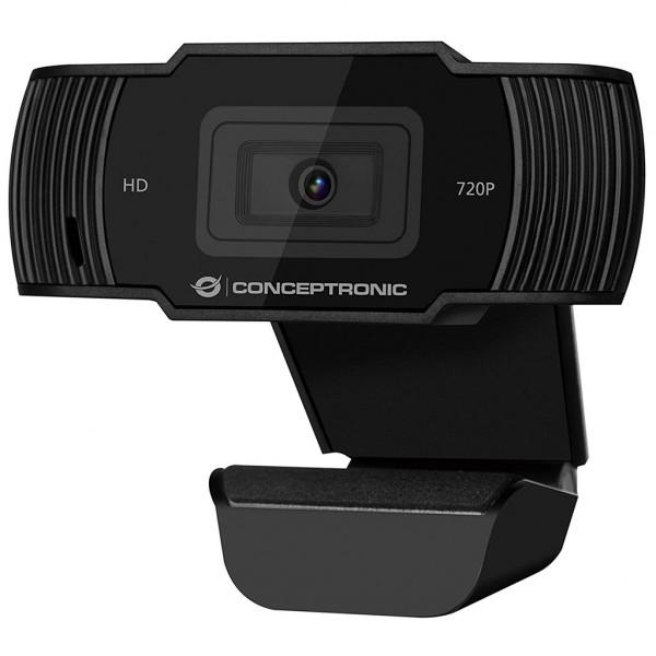 Conceptronic Webcam - 720P - USB 2.0 - integriertes Mikrofon - Schwarz