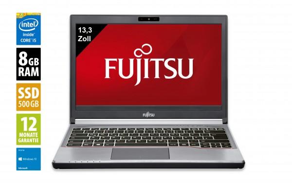 Fujitsu LifeBook E734 - 13,3 Zoll - Core i5-4300M @ 2,6 GHz - 8GB RAM - 500GB SSD - WXGA (1366x768) - Webcam - Win10Home