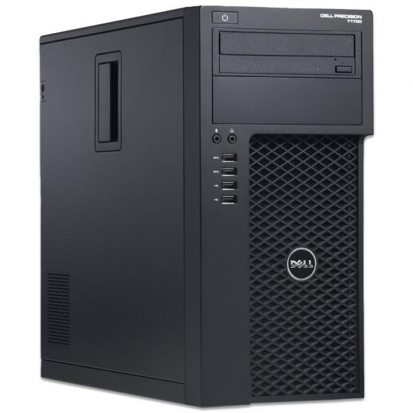 Dell Precision T1700 MT - Core i7-4770 @ 3,4 GHz - 8GB RAM - 250GB SSD - DVD-RW - Nvidia Quadro K600 - Win10Pro