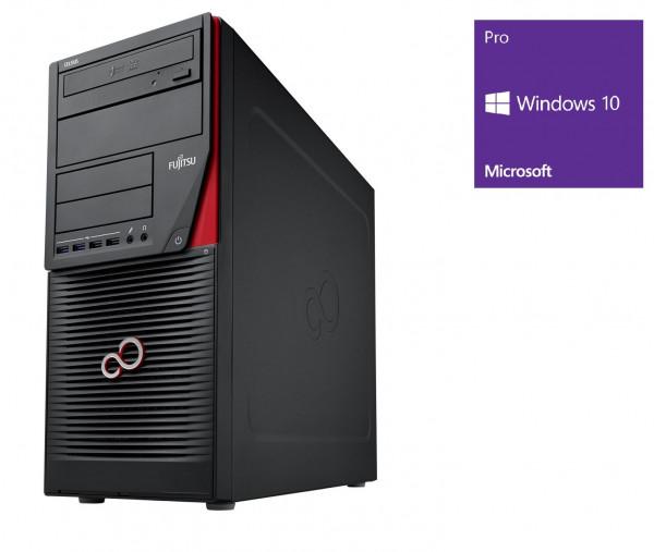 Fujitsu Celsius W550 Power-L - Xeon E3-1275 v5 @ 3,6 GHz - 32GB RAM - 2x 500GB SSD - 1000GB HDD - DVD-RW - Nvidia Quadro P2000 - Win10Pro - neuwertig