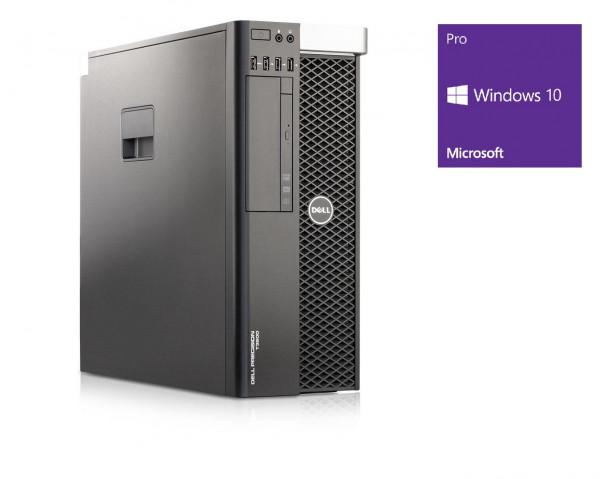Dell Precision T3600 - Xeon E5-1620 @ 3,6 GHz - 16GB RAM - 2000GB HDD - DVD-ROM - Quadro 2000 - Win10Pro