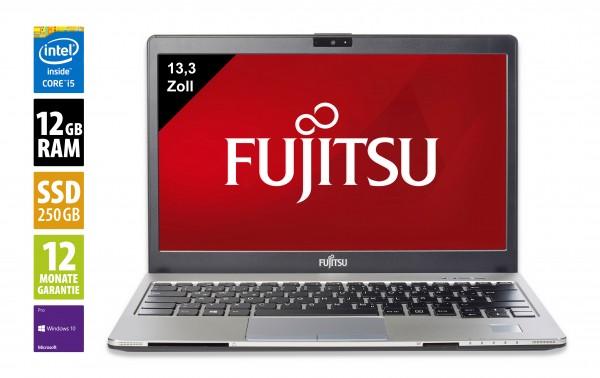 Fujitsu LifeBook S936 - 13,3 Zoll - Core i5-6200U @ 2,3 GHz - 12GB RAM - 250GB SSD - DVD-RW - FHD (1920x1080) - Win10Pro