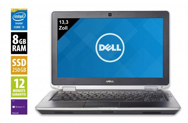 Dell Latitude E6330 - 13,3 Zoll - Core i5-3340M @ 2,7 GHz - 8GB RAM - 250GB SSD - DVD-RW - WXGA (1366x768) - Webcam - Win10Pro