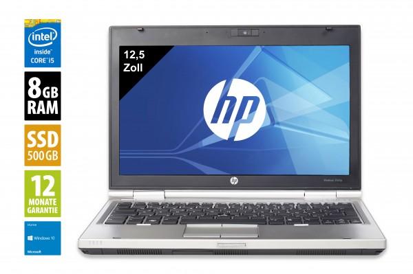 HP Elitebook 2560p - 12,5 Zoll - Core i5-2540M @ 2,6 GHz - 8GB RAM - 500GB SSD - DVD-RW - WXGA (1366x768) - Webcam - Win10Home