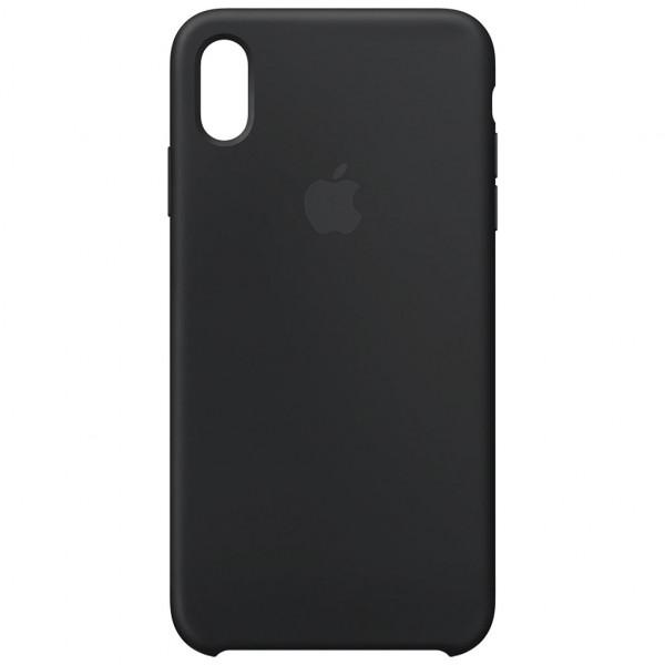 Apple Silikon Case - Handyhülle (iPhone XS Max) - Schwarz