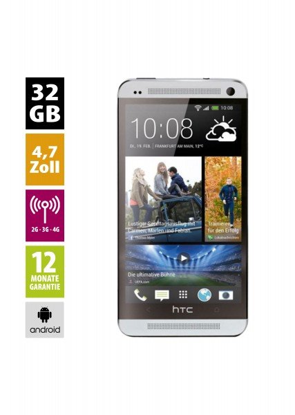 HTC One M7 (32GB) - Silver