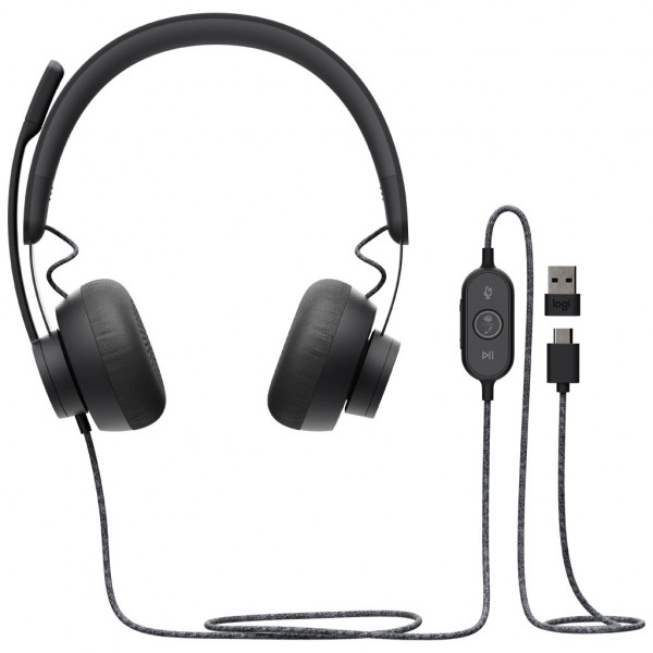 Logitech Zone Wired - Headset - für MS Teams