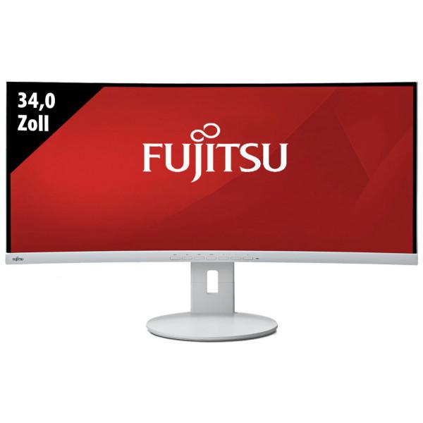 Fujitsu Display B34-9 UE Ultrawide Curved Monitor - 34,0 Zoll - UWQHD (3440x1440) - 5ms - grau