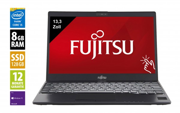 Fujitsu LifeBook U937 - 13,3 Zoll - Core i5-7300U @ 2,6 GHz - 8GB RAM - 128GB SSD - FHD (1920x1080) - Touch - Webcam - Win10Pro - Inkl. Dockingstation