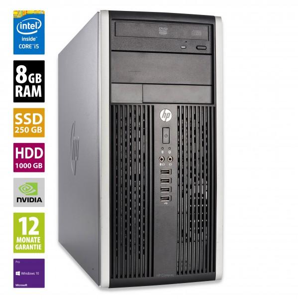 Gaming PC - HP Compaq Pro 6300 MT - Core i5-3570 @ 3,4 GHz - 8GB RAM - 250GB SSD - 1000GB HDD - DVD-RW - Nvidia GTX 1050 - Win10Pro