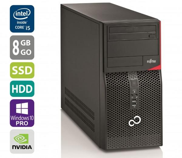 Gaming PC - Fujitsu Esprimo P520 MT - Core i5-4570 @ 3,2 GHz - 8GB RAM - 500GB HDD - 250GB SSD - DVD-RW - Nvidia GTX 1050 - Win10Pro