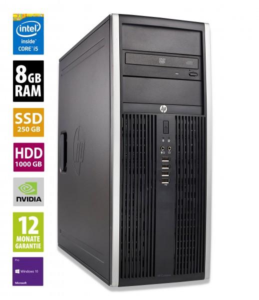 HP Elite 8200 CMT - Core i5-2400 @ 3,1 GHz - 8GB RAM - 250GB SSD - 1000GB HDD - DVD-RW - Nvidia GTX 1050 - Win10Pro