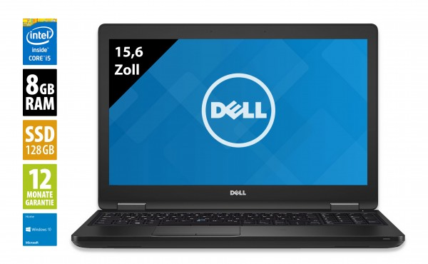 Dell Latitude 5580 - 15,6 Zoll - Core i5-6200U @ 2,3 GHz - 8GB RAM - 128GB SSD - FHD (1920x1080) -Webcam - Win10Home