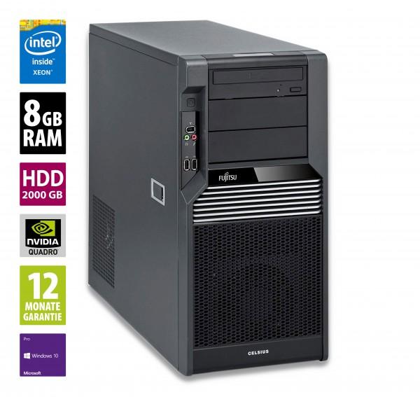 Fujitsu Celsius M470-2 MT - Xeon W3565 @ 2,8 GHz - 8GB RAM - 2000GB HDD - DVD-RW - Nvidia Quadro 2000 - Win10Pro
