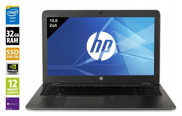 HP ZBook 15 G3 - 15,6 Zoll - Xeon E3-1505M v5 @ 2,80 GHz - 32GB RAM - 500GB SSD - Nvidia Quadro M2000M - FHD (1920x1080) - Webcam - Win10Pro