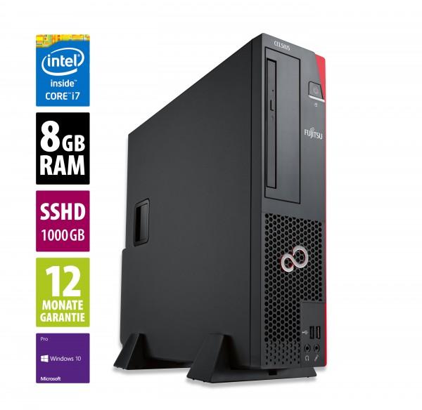 Fujitsu Celsius J550 DT - Core i7-6700 @ 3,4 GHz - 8GB RAM - 2x 500GB SHDD - Win10Pro