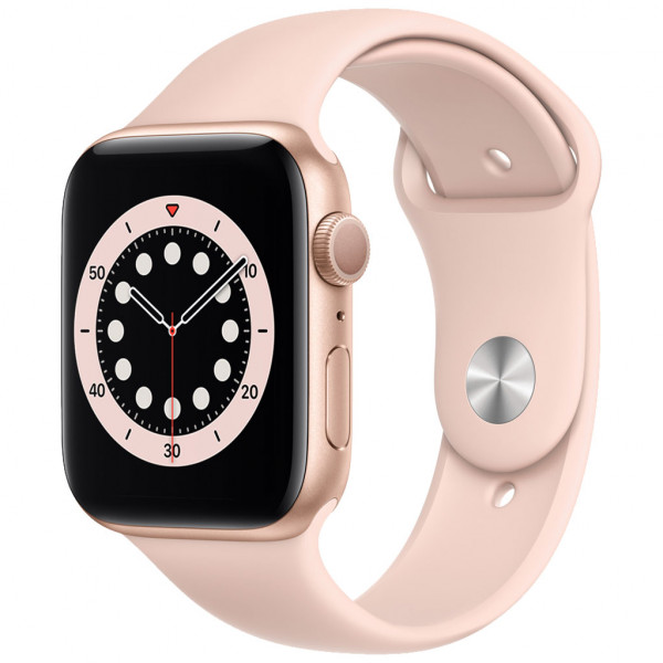 Apple Watch Series 6 (GPS) 44 mm - OLED - Touchscreen - 32 GB - Gold / Sandrosa